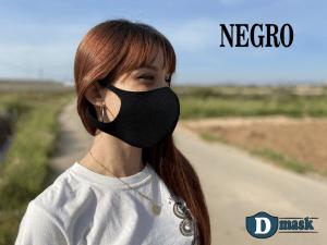 Tapabocas de tela reutilizable Dmask EXHA Negro