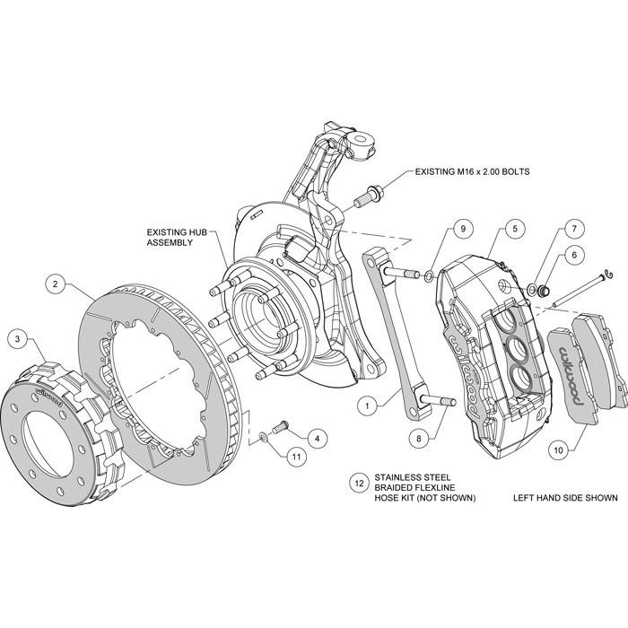 Wilwood TX6R Big Brake Truck Front Brake Kit LML/L5P