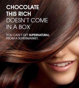 Chocolate hair color photo