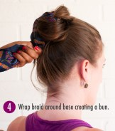 Step 4 scarf bun