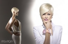 Aquage short platinum haircut