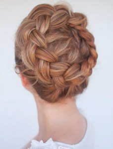 Holiday hair crown braid