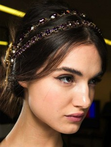 Holiday hair jeweled headband
