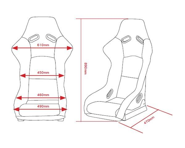 DMC Carbon Fiber Race Bucket Sport Seat for Mercedes Benz