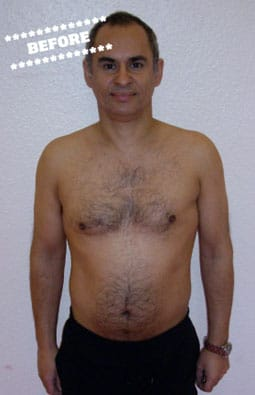 John Dingwall Before DMC Fitness Personal Training