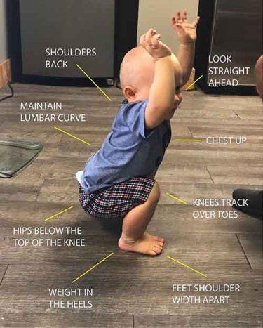 baby squating