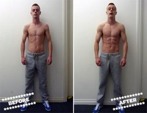 Chris K before & after
