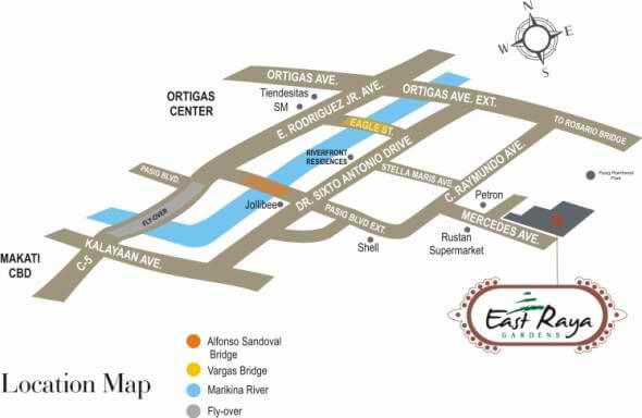 East Raya Location Map
