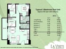La verti Residences - 3bedroom unit