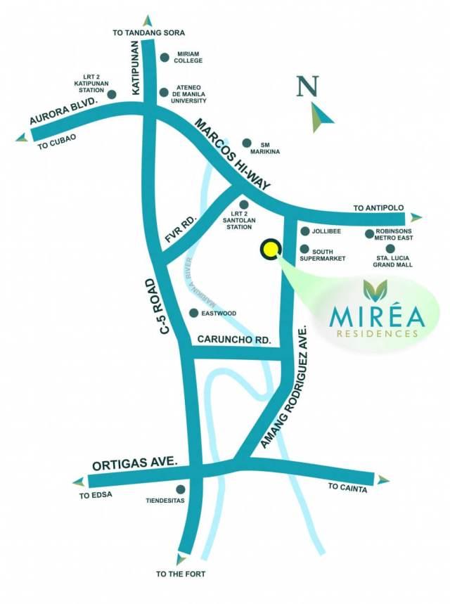 Mirea Location Map