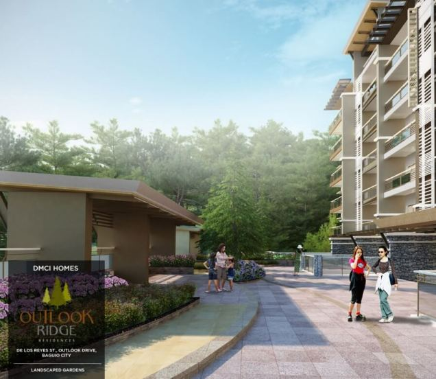 outlook ridge residences landscaped gardens in Baguio City