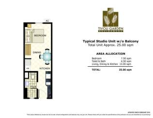 tivoli studio 25 sqm