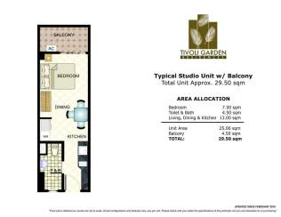 tivoli studio 29.50 sqm