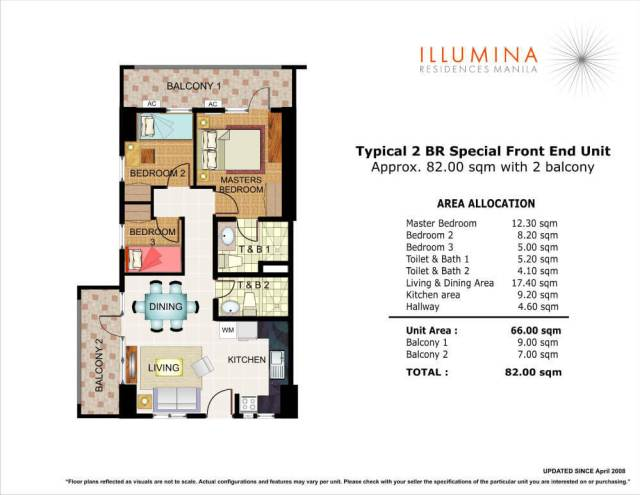 illumina residences 2bedroom special front unit