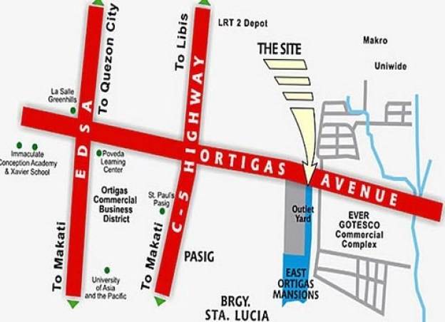 East Ortigas Mansions Location map