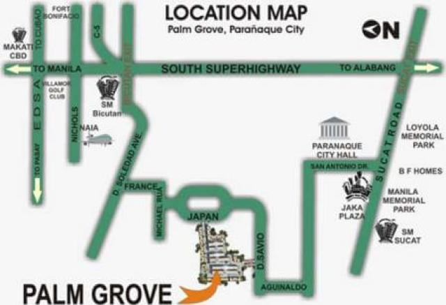 Palm Grove Location Map DMCI