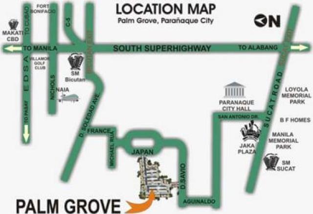 Palm Grove Location Map DMCI
