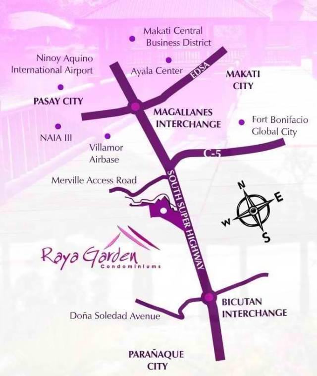 raya garden location map