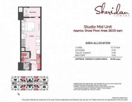 sheridan towers studio unit