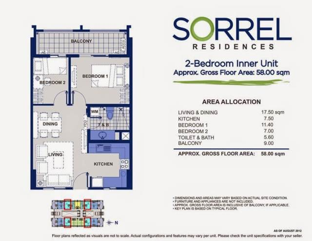 Sorrel DMCI 2 Bedroom