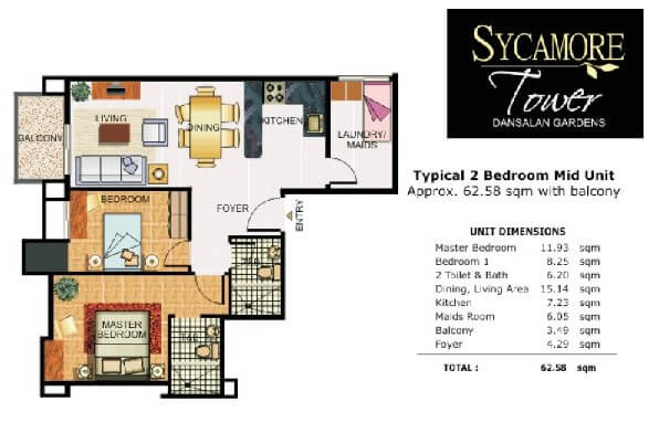 Sycamore Inner 2 Bedroom