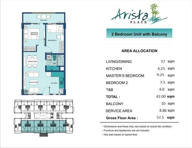 Arista Place Unit layout
