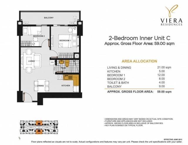 VIERA RESIDENCES 2 bedroom unit C
