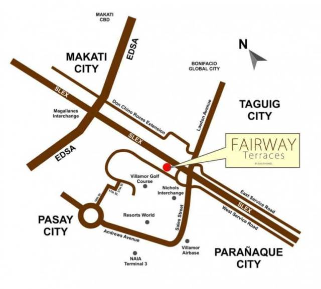 Fairway Terraces DMCI location Map Villamor