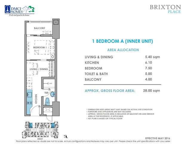 Brixton Place 1 Bedroom 28 sq meters
