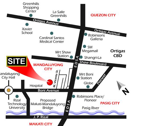 Dansalan Gardens location Map MAndaluyong