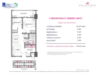 2 Bedroom C 48.5 sq meters