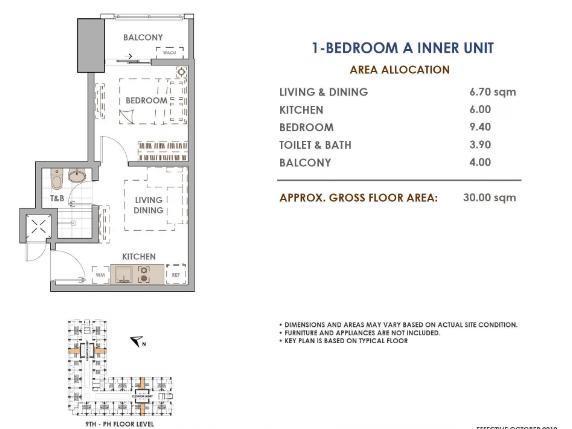 Aston Unit Layout 1 Bedroom A