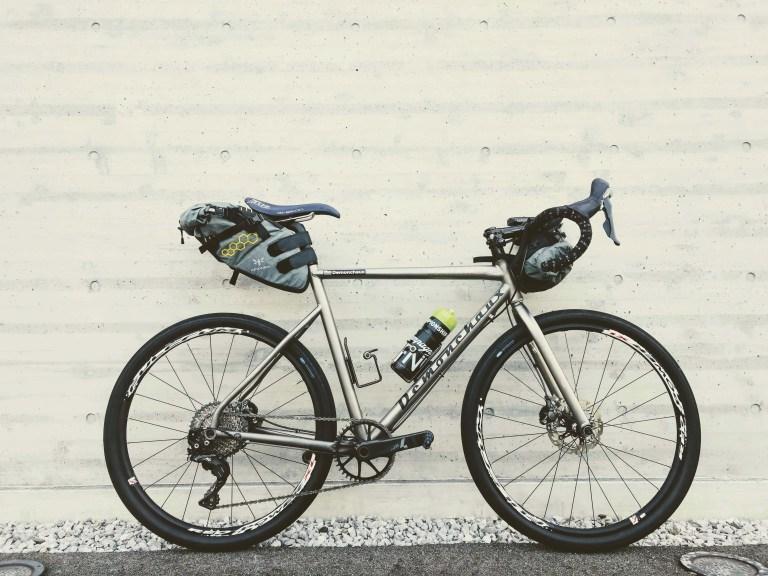 "Demonchaux titanium 26"" Road Bike side view"