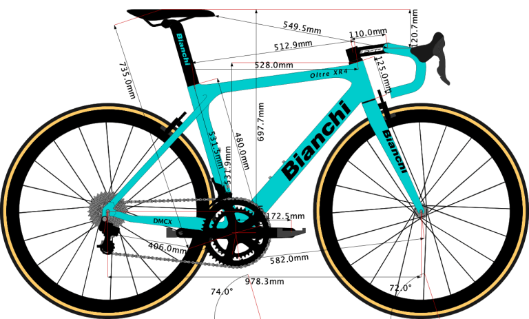 Sketch of the Bianchi Oltre XR4 2019