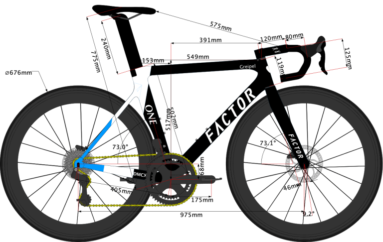 Team Israel Start-Up Nation 2020 bike sketch size 54cm