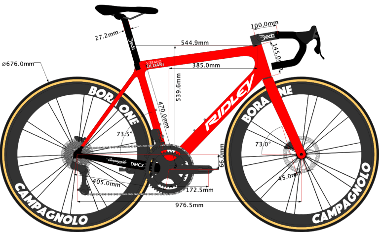 sketch of Ridley Helium SLX Disc 2020 size 54cm