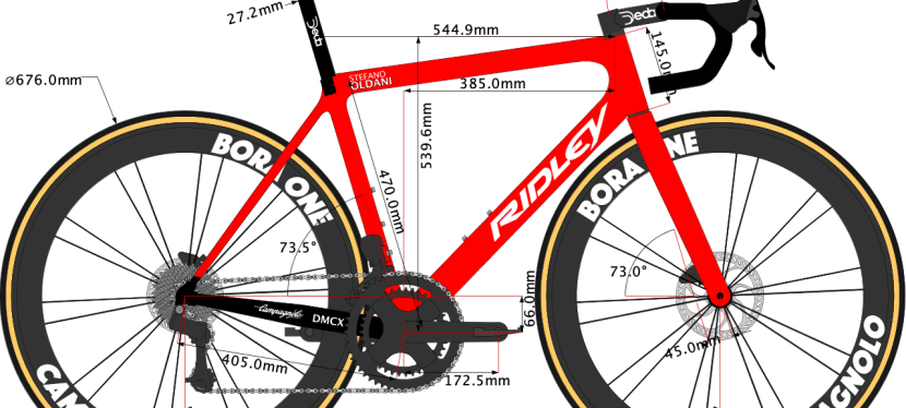 Stefano Oldani's 2020 Bike size