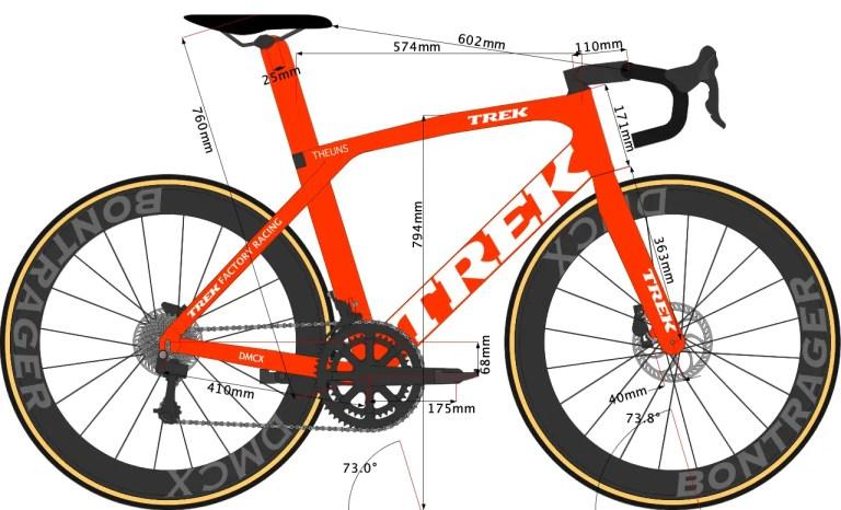 Trek Madone SLR 2020 Size 58 sketch