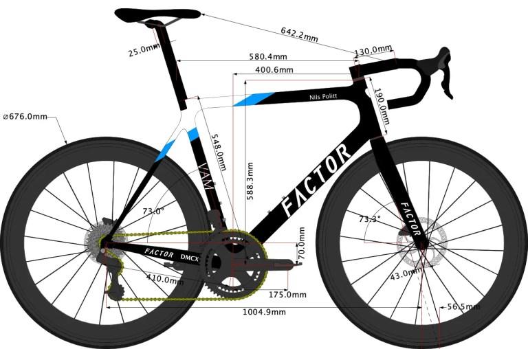 Nils Politt's Factor Bike Size 2020 sketch