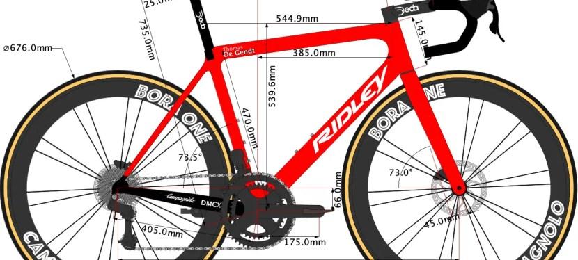 Thomas De Gendt's Ridley Bike size 2021