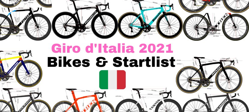 Giro d'Italia 2021's Team Bikes and Riders Start list