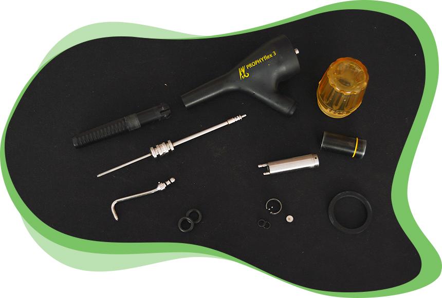 L'atelier dmd Réparations d'Instruments Dentaires - Etapes Réparation d'un Aéropolisseur