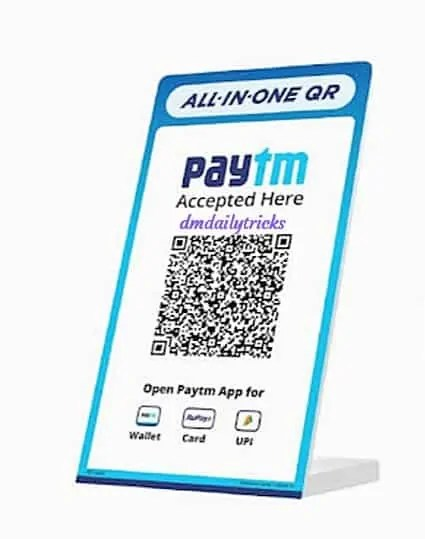 Paytm QR Code For Free