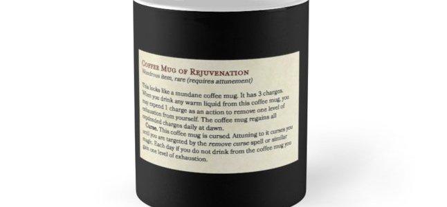 Coffee Mug of Rejuvenation | Magic Item for Dungeons & Dragons Fifth
