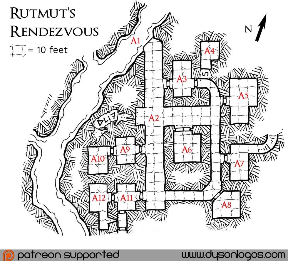 Dyson Logos Heart of Darkling Dungeon Fully Stocked Adventure Level 1 Dungeons and Dragons Fifth Edition