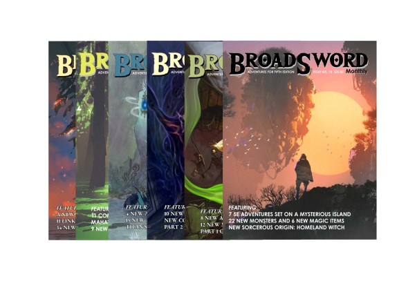 BroadSword 6 Issue Print Subscription at DMDave.com. Featuring 6 softcover books of original 5e content, monsters, maps and more by DMDave