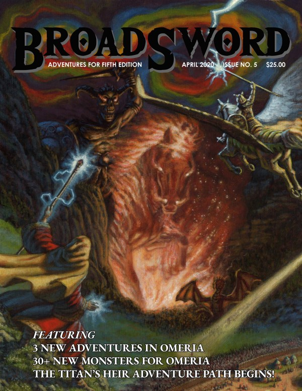 BroadSword Monthly Issue #5 available at dmdave.com