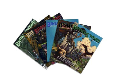 BroadSword Issue 1-6 Print Book Bundle by DMDave features the first 6 issues of BroadSword Monthly, available to purchase at dmdave.com