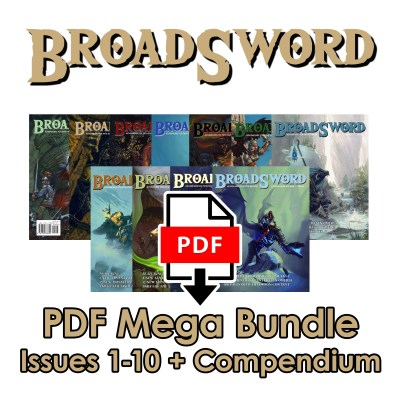 BroadSword Mega Bundle Issues 1-10 plus Compendium Vol. 1 in digitally formatted PDFs for instant download at dmdave.com