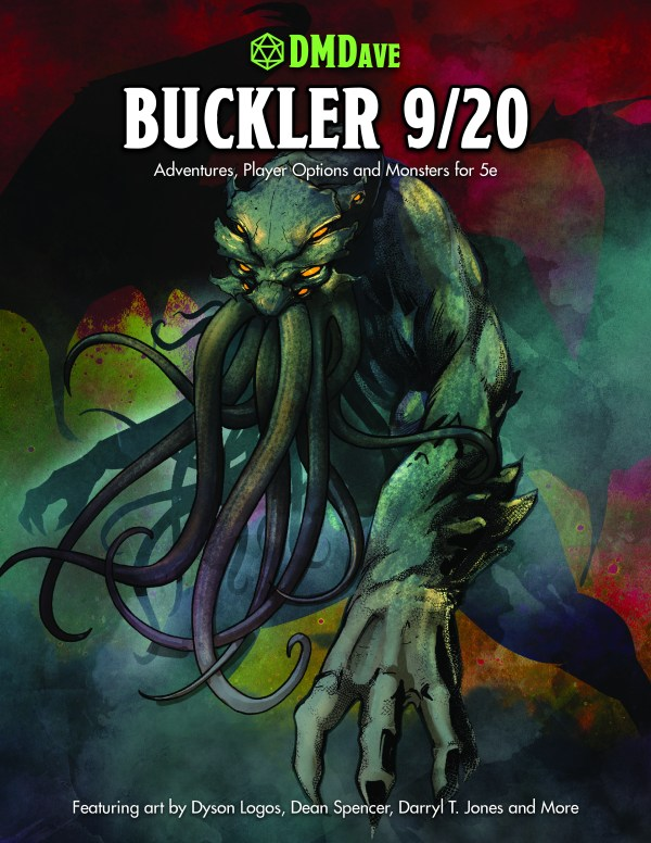 Buckler September 2020 - featuring the collected works of the DMDave Patreon for the month of September, 2020. Formatted for PDF download at dmdave.com